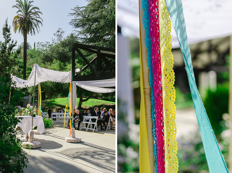 Los Angeles wedding photographer - Modern colorful Jewish Mexican wedding with festive chuppah