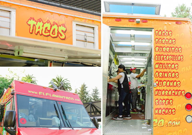Taco food truck catering for hip Los Angeles wedding reception