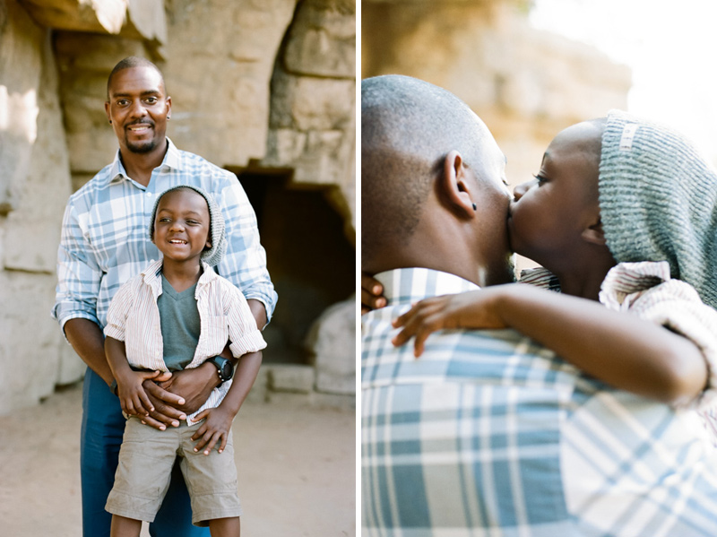Dad and son, natural, relaxed, emotional Los Angeles family photographer.