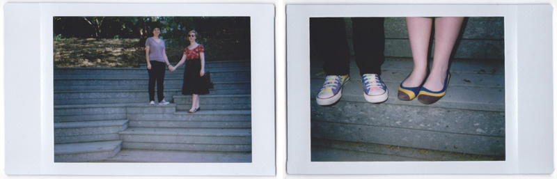 Los Angeles offbeat, fun, quirky wedding and engagement photographer with fuji instax toy camera