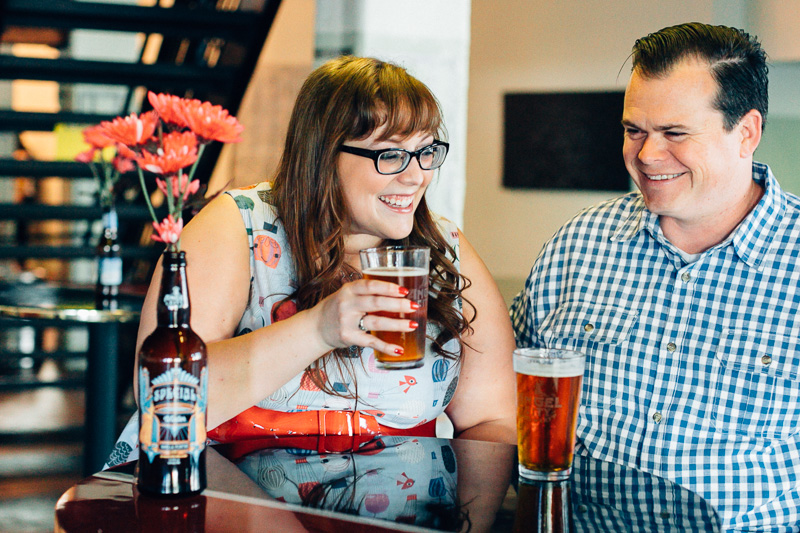 DTLA engagement photos at Angel City Brewery Los Angeles photographer