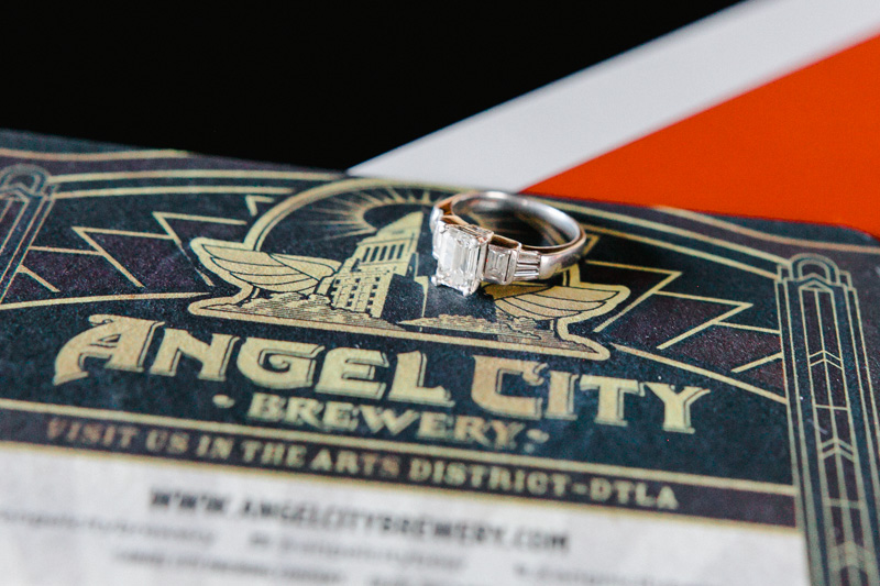 Angel City Brewery engagement and wedding photography by Jessica Schilling