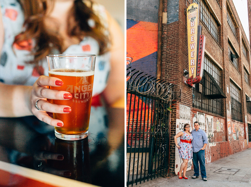Angel City Brewery unique Los Angeles engagement photography location