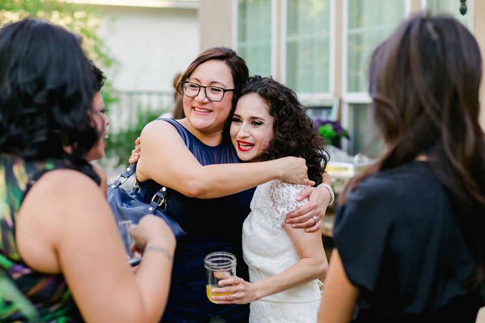 modern los angeles backyard wedding