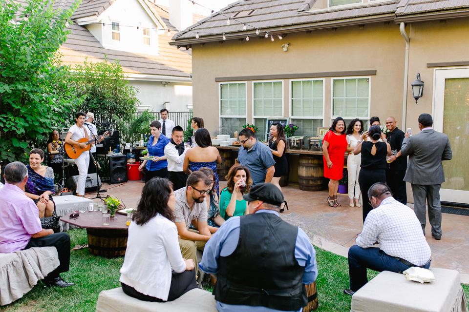 Pasadena backyard wedding with dancing and live music