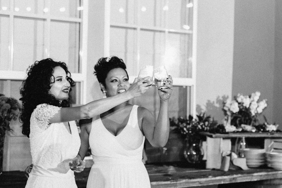 Los Angeles documentary wedding photography same sex lesbian reception