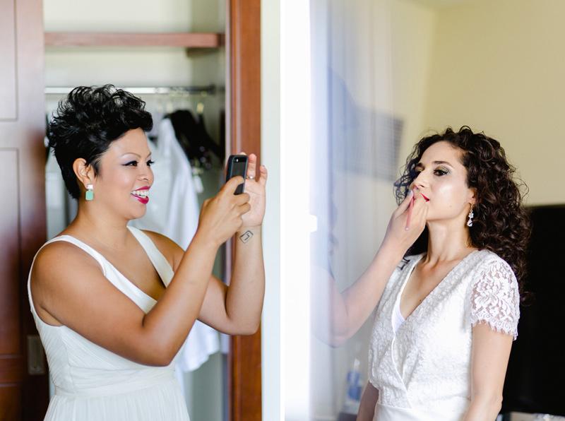 Sweet romantic Los Angeles lesbian wedding photography