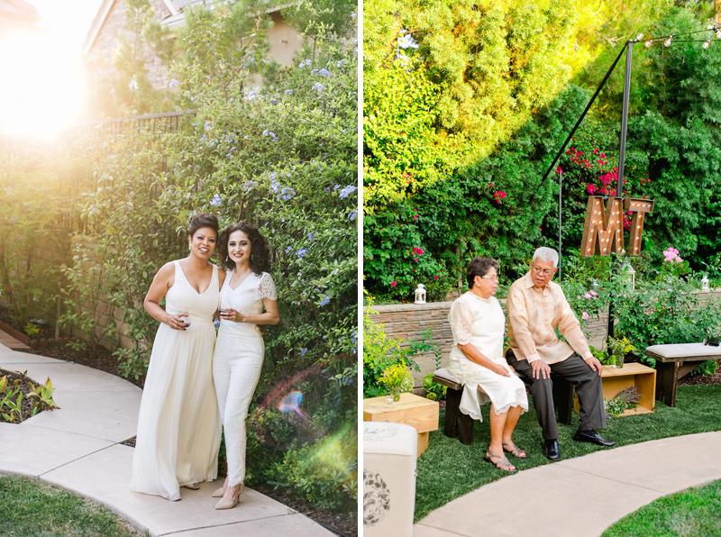 Modern LA same sex wedding photography