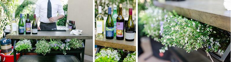 Vineyard and wine themed backyard wedding in Los Angeles