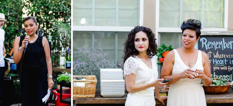 Sweet intimate LGBT backyard wedding by Los Angeles photographer Jessica Schilling