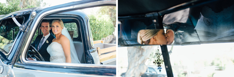 Calabasas wedding with vintage pickup truck