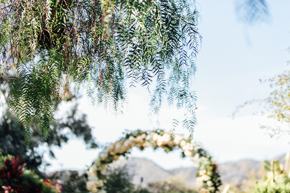 Rustic romantic Malibu wedding ceremony