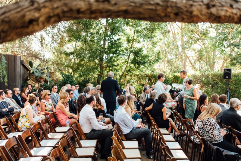 Southern California rustic romantic Malibu wedding ceremony
