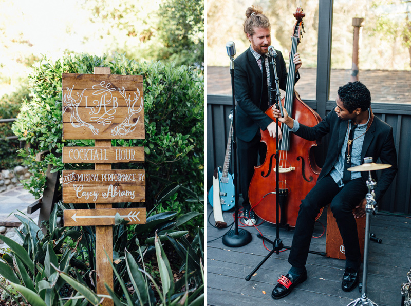 Calabasas wedding photography featuring Casey Abrams live music