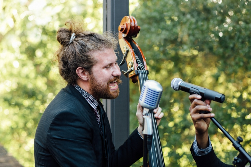 Casey Abrams live music at wedding reception in Malibu