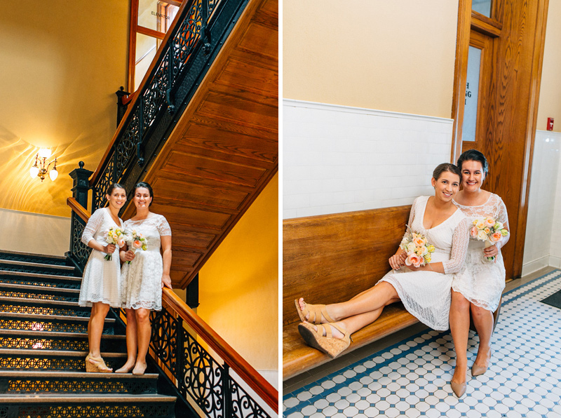 two brides intimate lesbian courthouse wedding