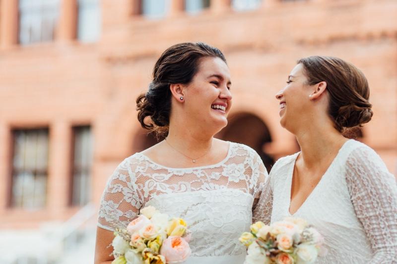 Lesbian wedding at Old Orange County Courthouse
