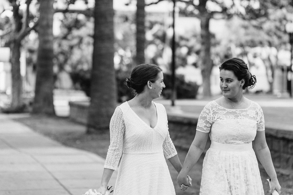 Sweet romantic same sex courthouse elopement