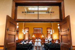 Old Orange County Courthouse Santa Ana intimate elopement