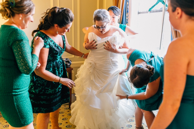 Los Angeles wedding photography. Bride get ready at Biltmore hotel.