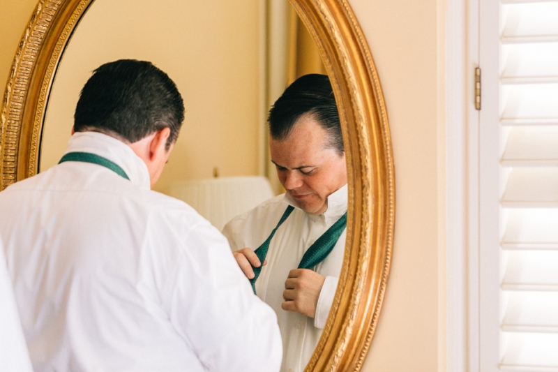 Los Angeles wedding photography groom get ready at Biltmore Hotel