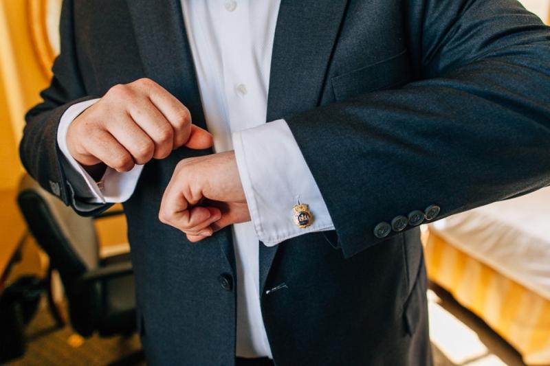 vintage heirloom cufflinks belonging to groom