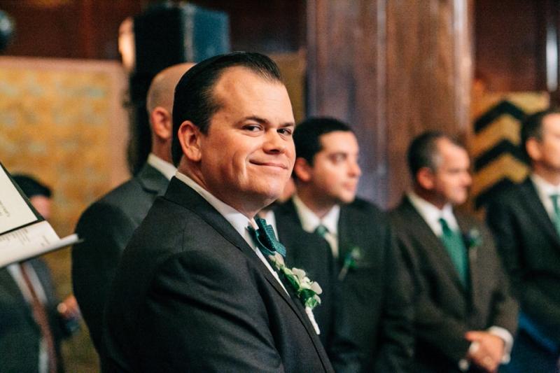 Los Angeles wedding photographer. Indoor wedding ceremony Cicada Club.