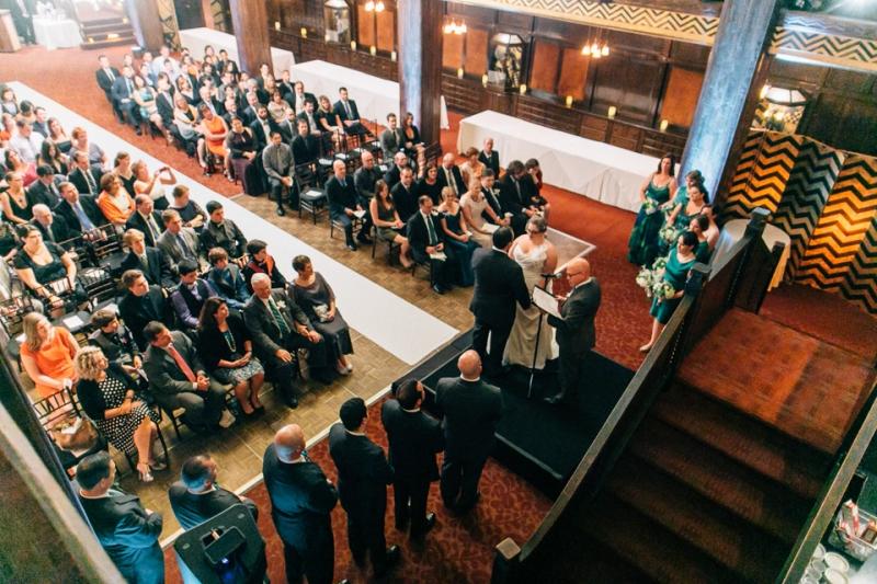 Los Angeles wedding photography. Ceremony at art deco venue Cicada Club
