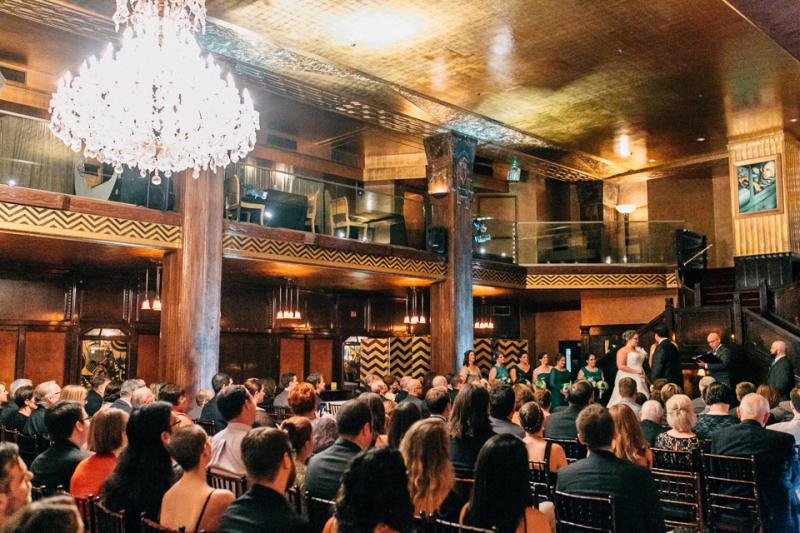 Los Angeles art deco wedding at Cicada Club downtown