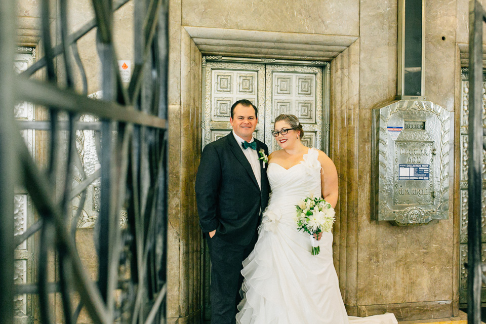 vintage art deco wedding downtown Los Angeles