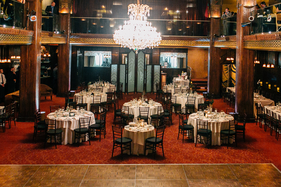 art deco wedding reception at Cicada Club downtown los angeles
