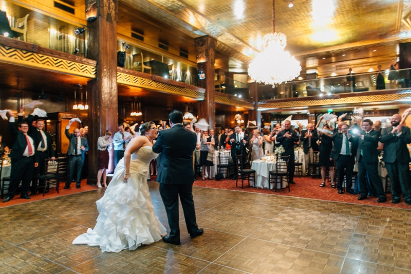 Los Angeles wedding photography at Cicada Club downtown