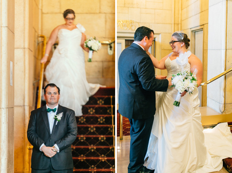 Los Angeles wedding photography. First Look Biltmore Hotel