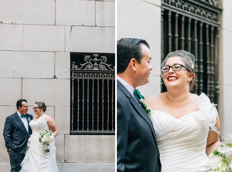 Classic timeless bride and groom portraits at downtown Los Angeles wedding