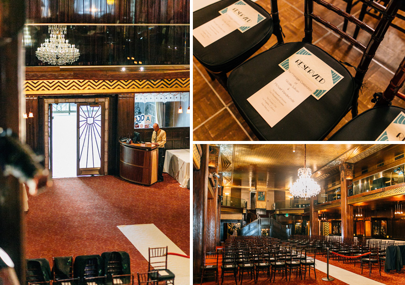Art Deco wedding at Cicada Club downtown Los Angeles