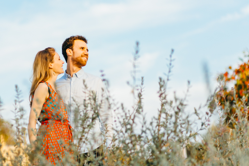 Los Angeles nature outdoor engagement photos