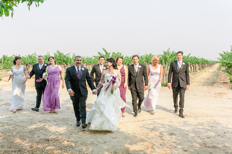 Temecula vineyard wedding party
