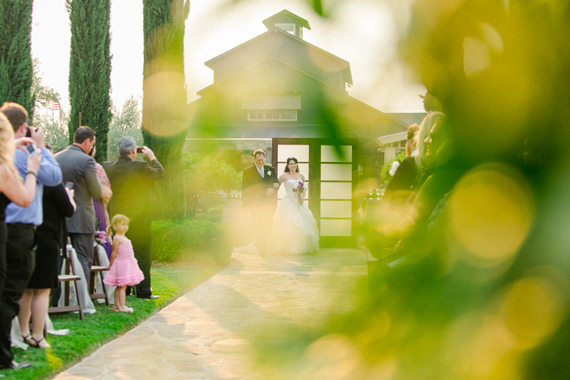 Southern California vineyard wedding ceremony