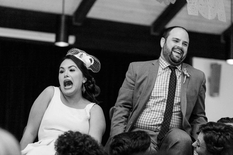 modern fun Jewish wedding reception Los Angeles