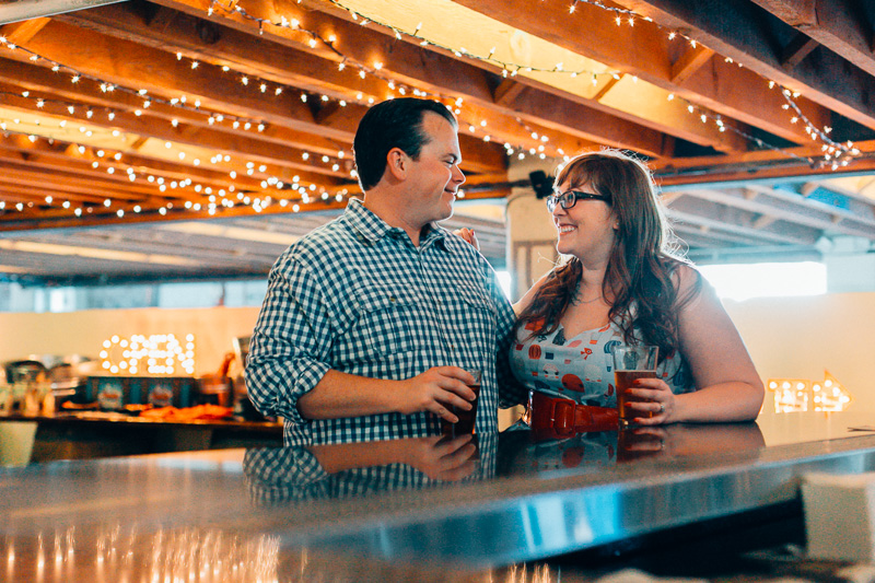 Angel City Brewery engagement photos