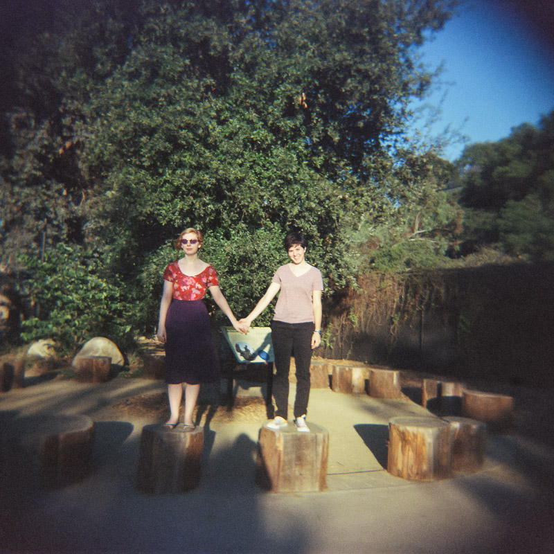 Los Angeles holga film engagement session