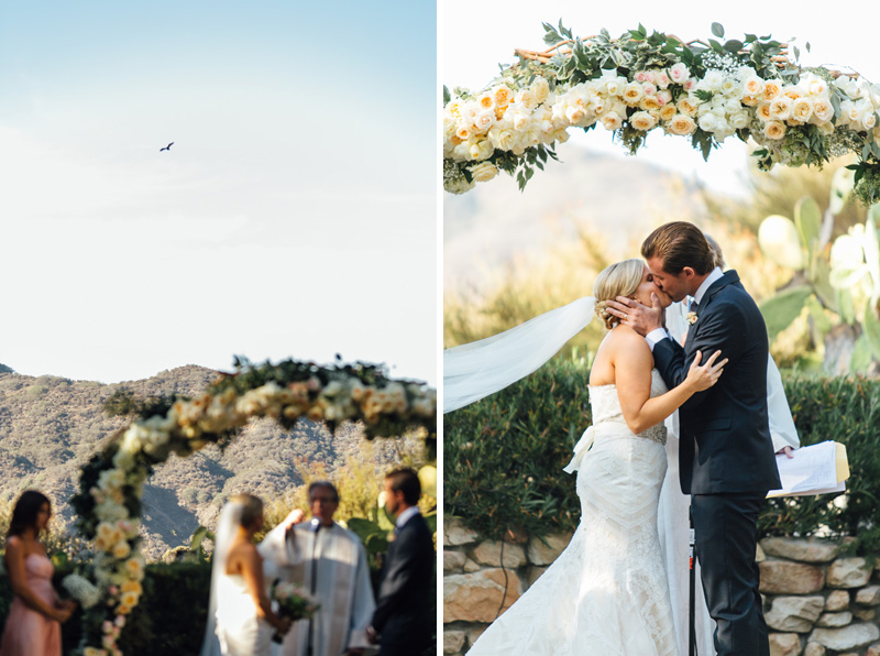 Malibu wedding photography. Ceremony at Saddle Peak Lodge