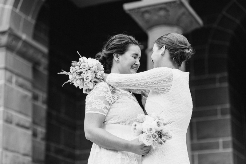 Emotional candid moments at elopement