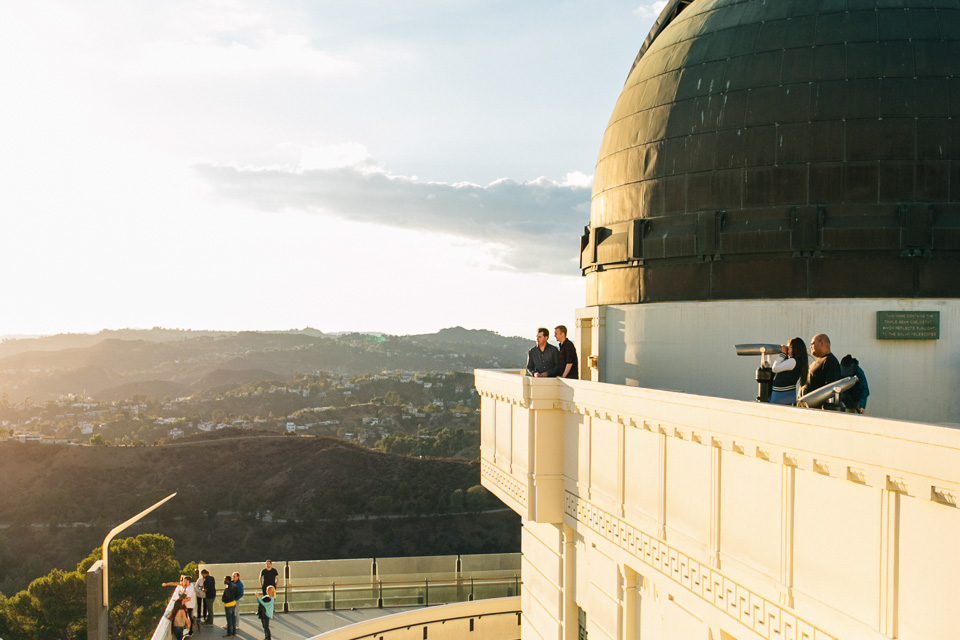 Stunning Los Angeles Griffith Observatory engagement photos