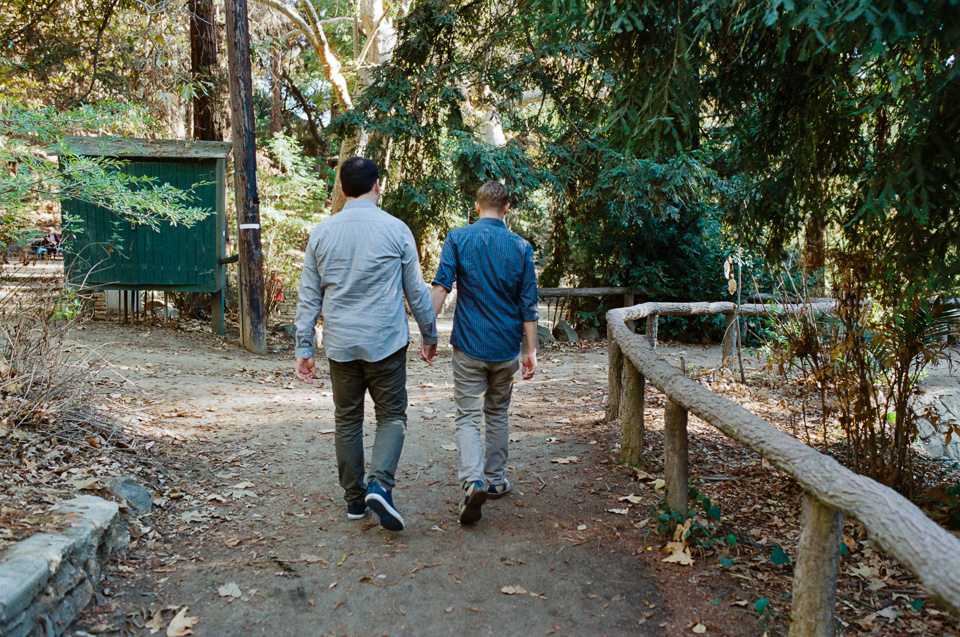 Griffith Park gay engagement photographs
