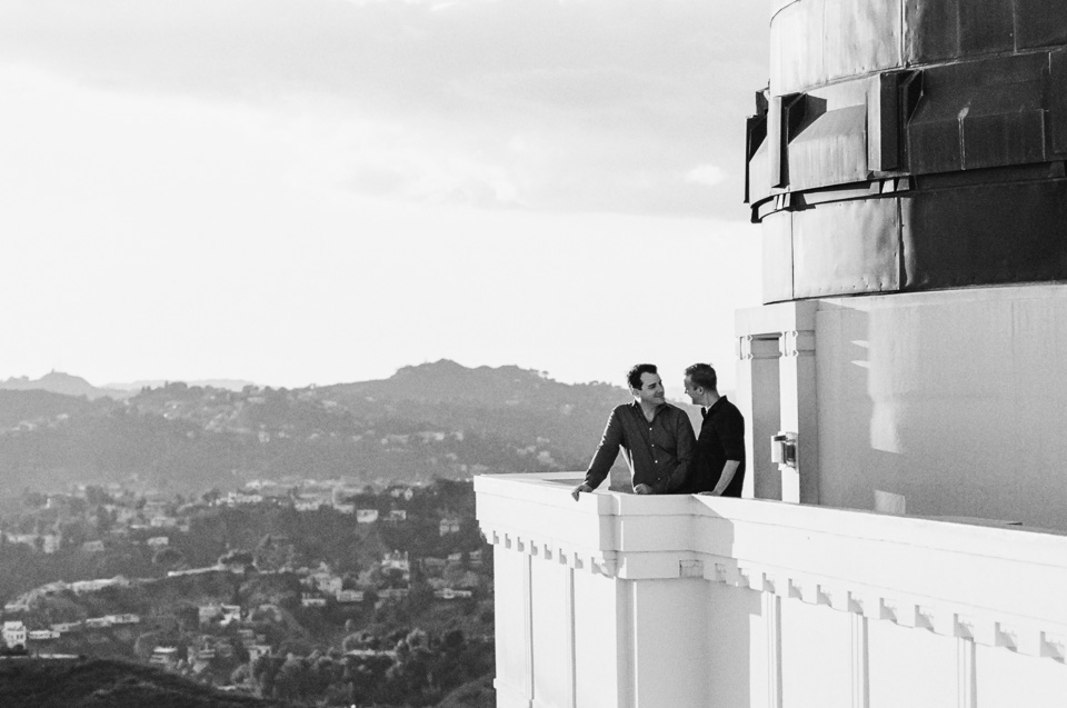 Griffith Observatory film engagement photos