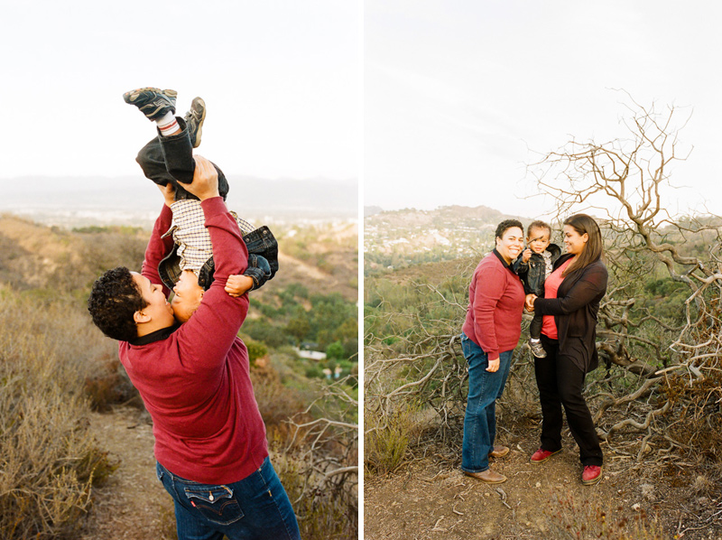Los Angeles modern natural family portraits for LGBTQ families