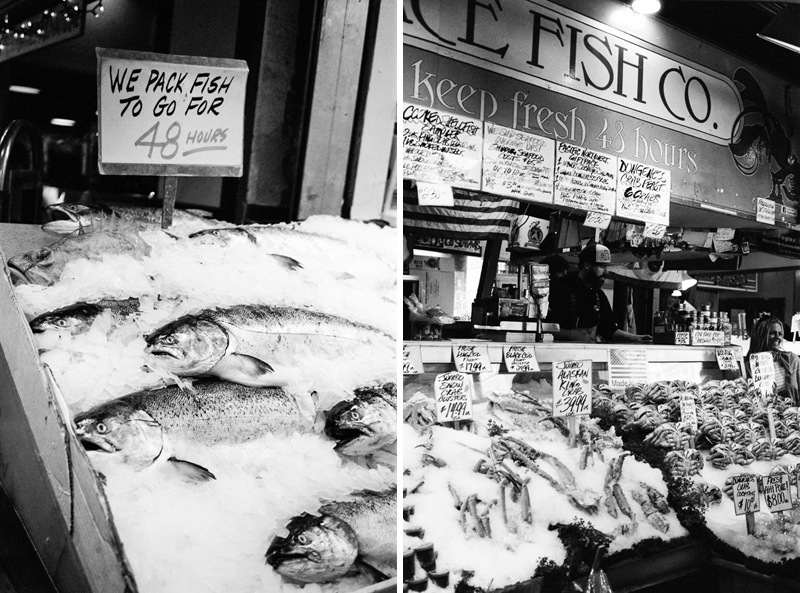 Seattle Fish Market. Travel film photographer