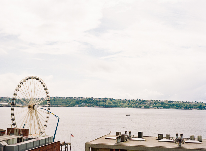 Seattle Pike Place Ferris Wheel on film.