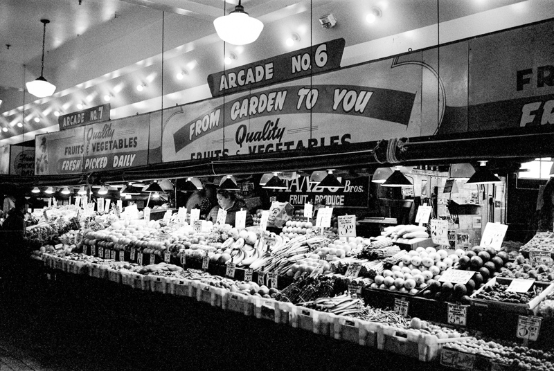 Seattle Pike Place Market on film